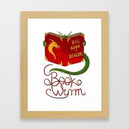 Book Wyrm Framed Art Print