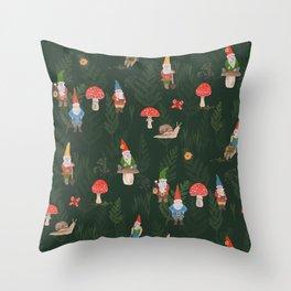 Woodland Gnomes Throw Pillow