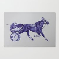 sport Canvas Prints featuring Sport Horses by Tosasmok