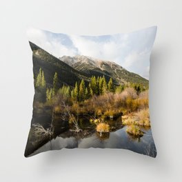 Rocky Mountain Glory Throw Pillow