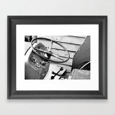 Take The Wheel Framed Art Print