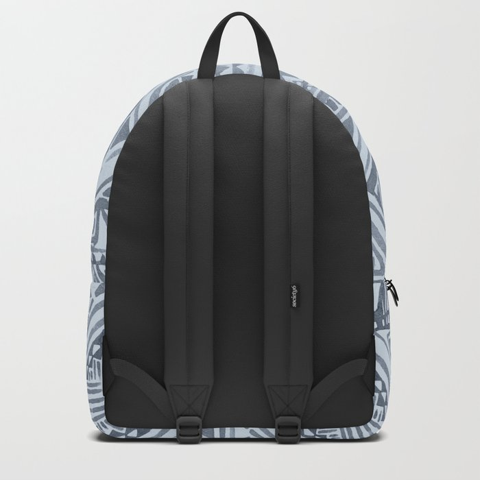 Simply Tribal Tile in Indigo Blue on Sky Blue Backpack