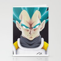 vegeta Stationery Cards featuring Vegeta Portrait Painting by ADCArtAttack
