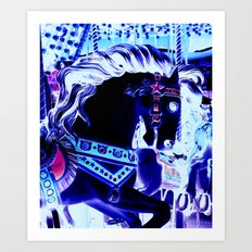 Carousel horse Art Print