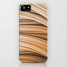 Beige Strands. Abstract Design iPhone Case
