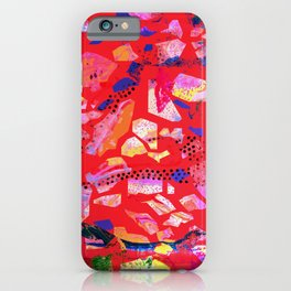 Sea Glass Bright Red Pattern iPhone Case