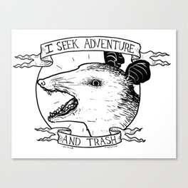 ADVENTURE AND TRASH Canvas Print