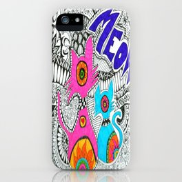 Meow-tangle iPhone Case