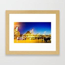 Night city. Framed Art Print