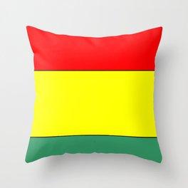 flag of bolivia 3 -bolivian,boliviano,bolivian,Sucre, La Paz. Throw Pillow