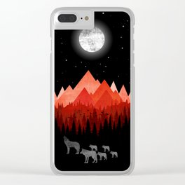 Wolfs road trip Clear iPhone Case