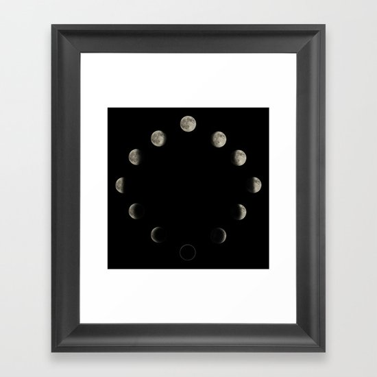Lunar Cycle Framed Art Print