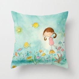 Nora on the Lake Throw Pillow