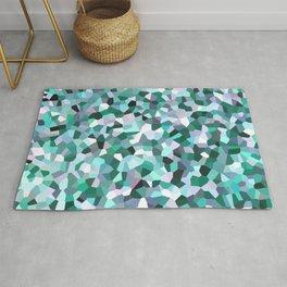 Turquoise Mosaic Pattern Rug