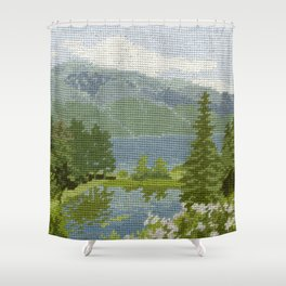 Found Tapestry Shower Curtain