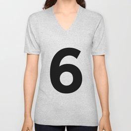 Number 6 (Black & White) Unisex V-Neck