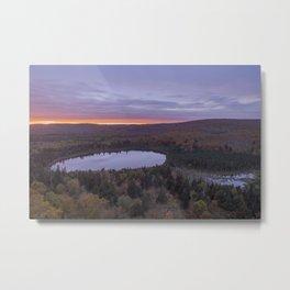 Oberg Lake during an Autumn Sunset Metal Print