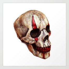 Circus Clown Skull Art Print