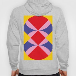 Two fly shaped wrestler's heads intersecating, making a beautiful red square in the center. Hoody