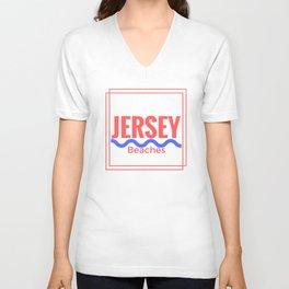 Jersey Beaches Graphic Unisex V-Neck