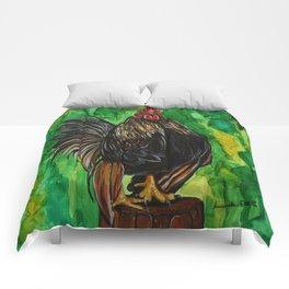 Serama Rooster - Chicken Art Comforters