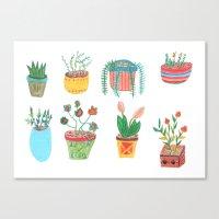 plants Canvas Prints featuring Plants. by Elga Libano