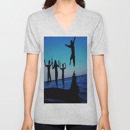 Brownie's beach silhouette Unisex V-Neck