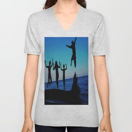 Brownie's beach silhouette Unisex V-Neck