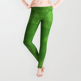 Gentle green triangles in intersection and overlay. Leggings