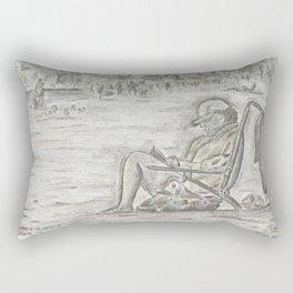 Beach Reader Rectangular Pillow