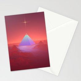 Blue Pyramid Stationery Cards