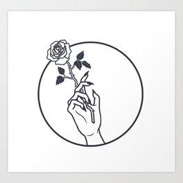 Smokin' Rose Art Print
