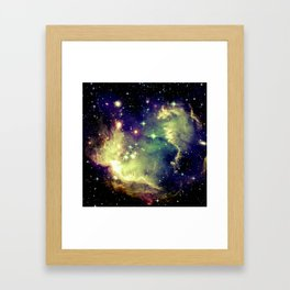 Nebula Galaxy (deep pastels) Framed Art Print