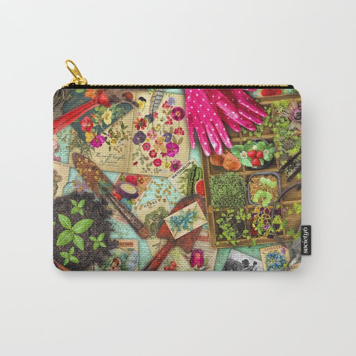 A Vintage Garden Carry-All Pouch