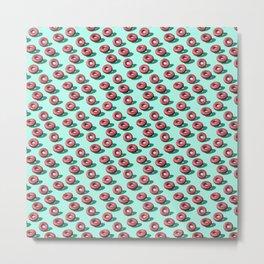 Raspberry & White Chocolate Doughnuts Metal Print
