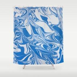 Bleed Tarheel Blue Shower Curtain