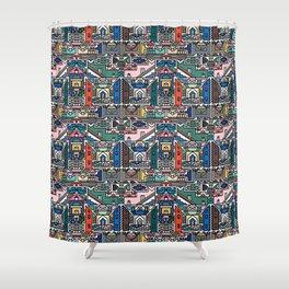 Ndebele Village Shower Curtain