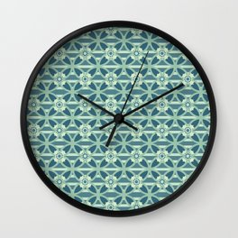 Spring Flower Damask Style Seamless Pattern Wall Clock