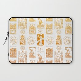 Beautiful Golden Tarot Card Print Laptop Sleeve