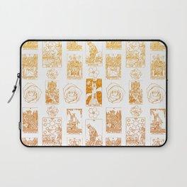 Beautiful Golden Tarot Card Print Laptop Sleeve