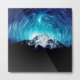 Between the galaxy and the mountain Metal Print
