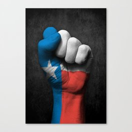 Texas Flag on a Raised Clenched Fist Canvas Print
