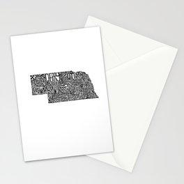 Typographic Nebraska Stationery Cards