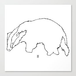 Badger Badger Canvas Print