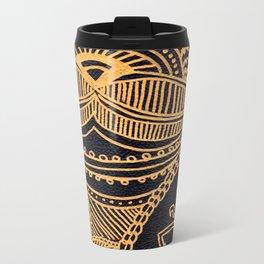 Tropical Henna Metal Travel Mug
