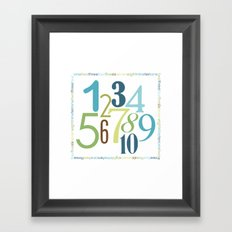 Numbers Square - Grass Stains colorway Framed Art Print