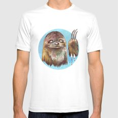 Sloth Pride MEDIUM Mens Fitted Tee White