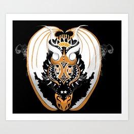 Smoking Copperhead Dragon Art Print