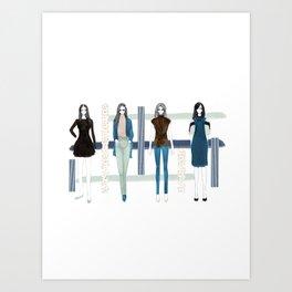 Fashionary - Blues Art Print