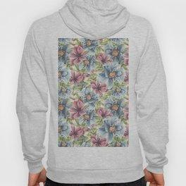 Hibiscus Vintage Pattern Hoody